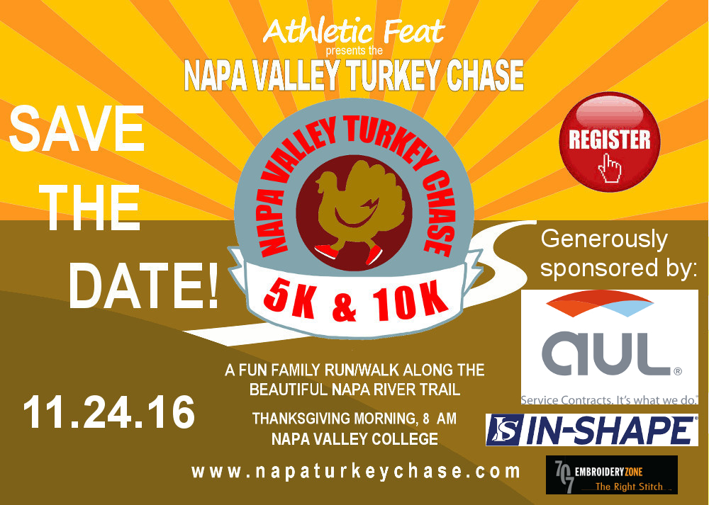 Athletic Feat presents the 2014 Napa Valley Turkey Chase on Thanksgiving morning